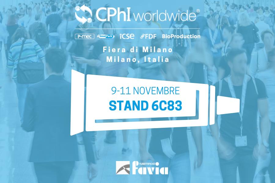 Tubettificio Favia al CPhI Worldwide 2021: torna a Milano l'evento Pharma più importante al mondo